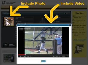 Include a video and photo for your athlete.